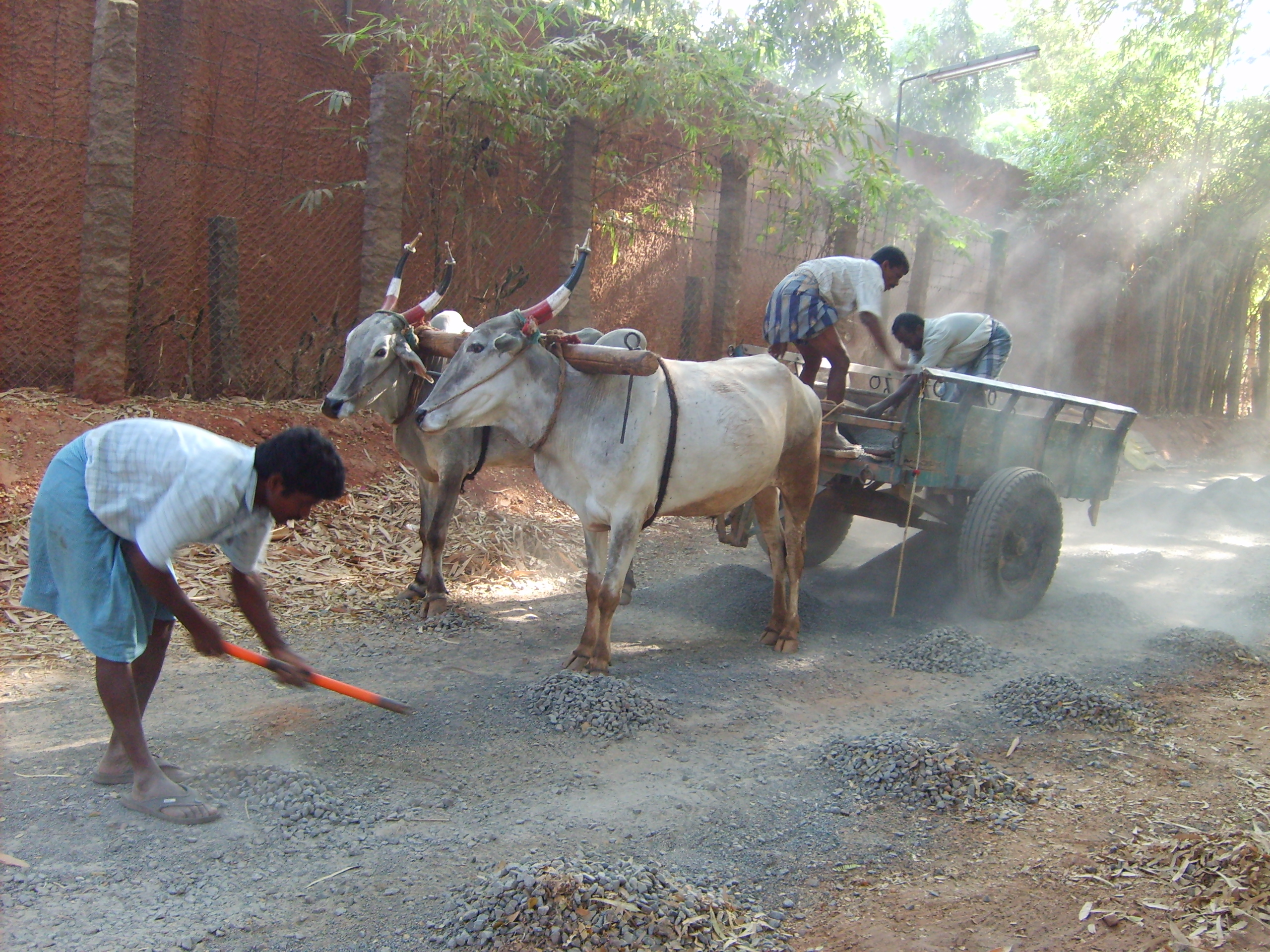 Road construction in Tamil Nadu